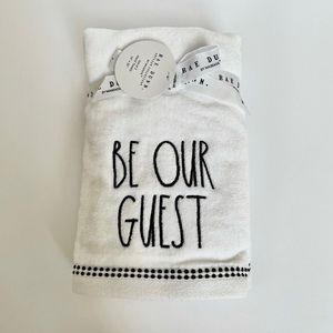Rae Dunn BE OUR GUEST TOWEL - 2pc